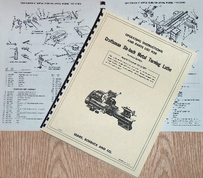 craftsman  atlas 6 quot  metal lathe 101 07301 owner s manual Craftsman Lathe Faceplate Old Sears Metal Lathe Parts