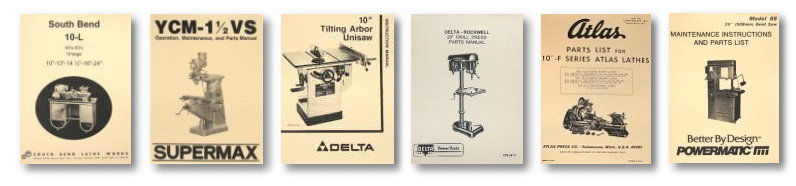 Machinery Manuals Lathes, Vertical Milling Machine, Diagram, Table Saw, Drill Press, South Bend