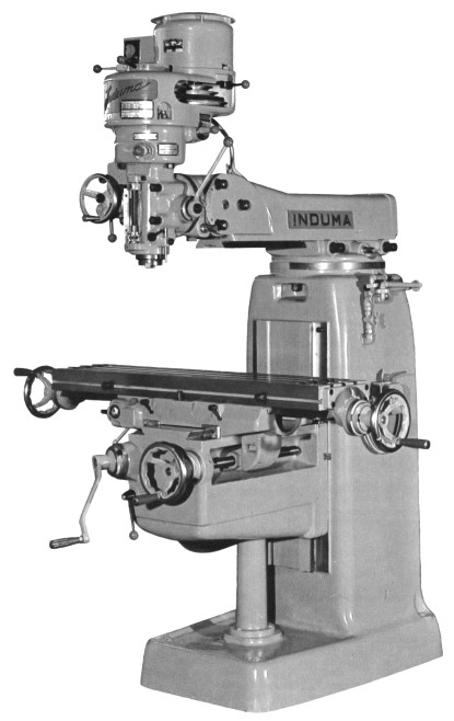 Induma 1-S Vertical Turret Milling Machine Operator and Parts Manual.